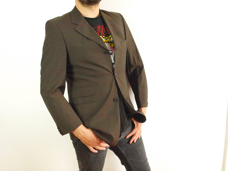 fccbeb325 Brown Hugo Boss blazer Model Astor / Lustro, Size M Eur 50 Us 40, 100% New  Wool, Hugo Boss suit jacket shinny blue lining made by BOECKER by ...