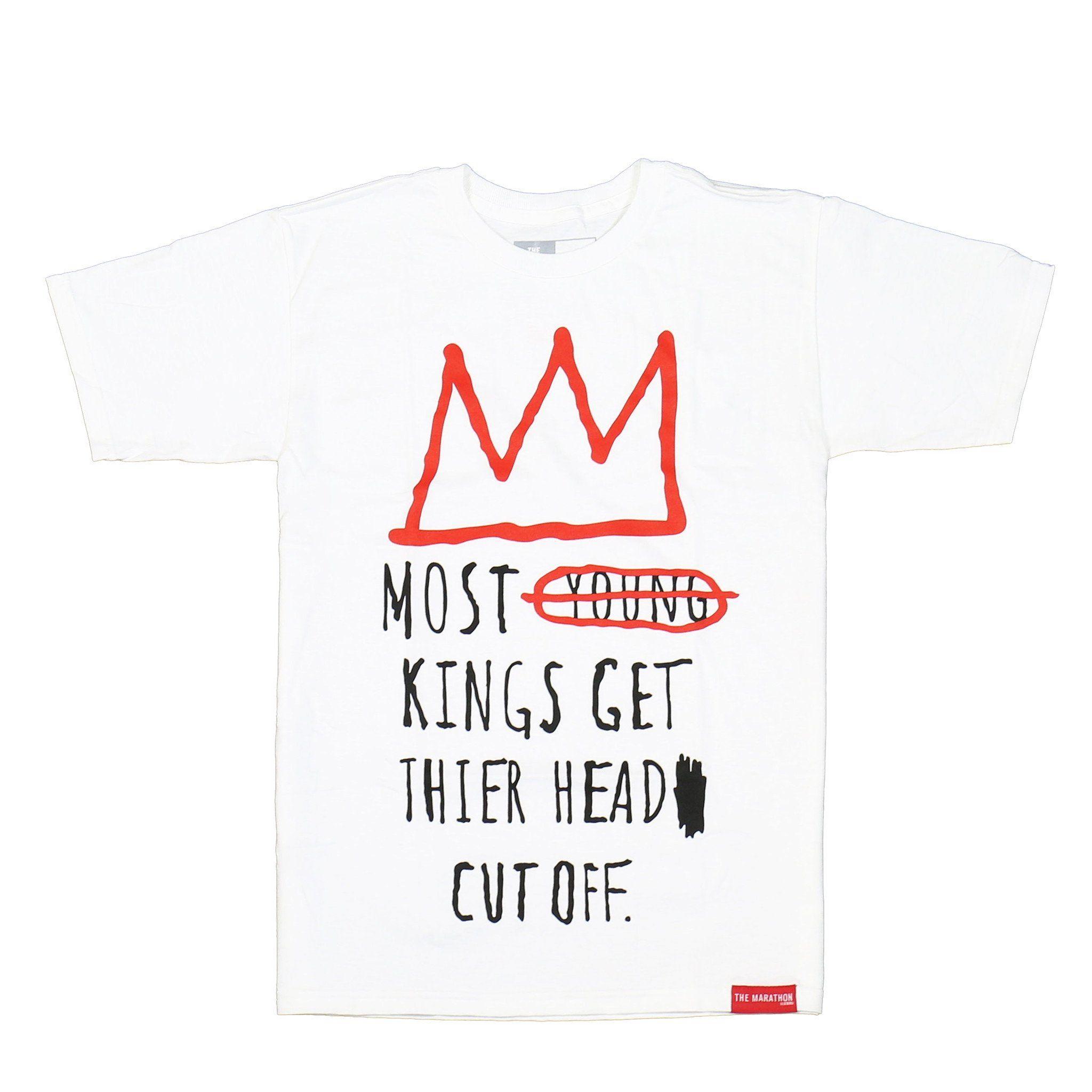 5966c269b Guard The Throne T-Shirt - White – The Marathon Clothing ...