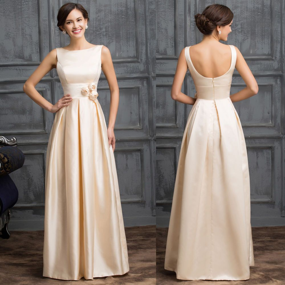 Sexy Mother Of The Bride Long Satin Vintage Cocktail