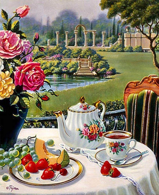 außenbereich Tee kunst, Italienischer garten, Klassische