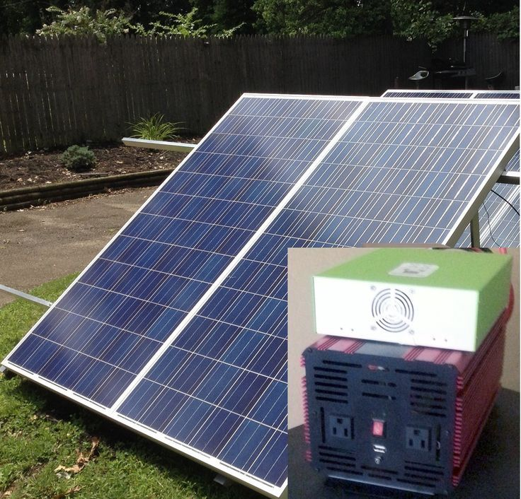 Off Grid Whole House Power 2kw Solar Generator Kit Powered With 2 Solar Panels Solar Panels Solar Generator Solar Energy Panels