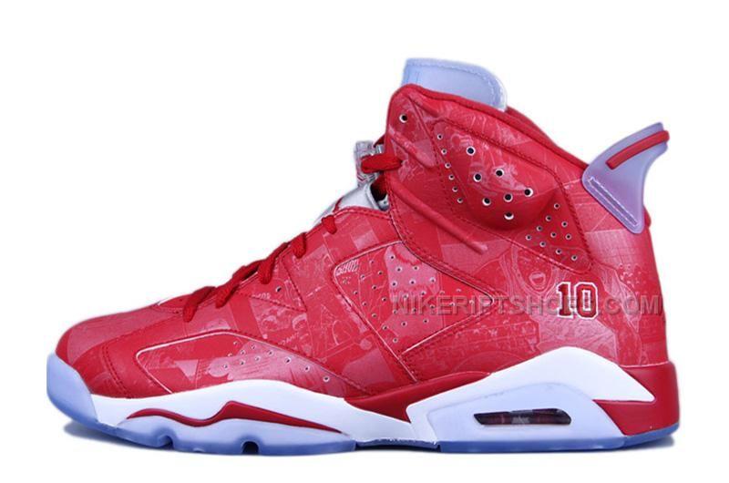 """6dd176c26da82 Air Jordan 6 Retro """"Slam Dunk"""" Varsity Red Varsity Red-White For Sale Online"""