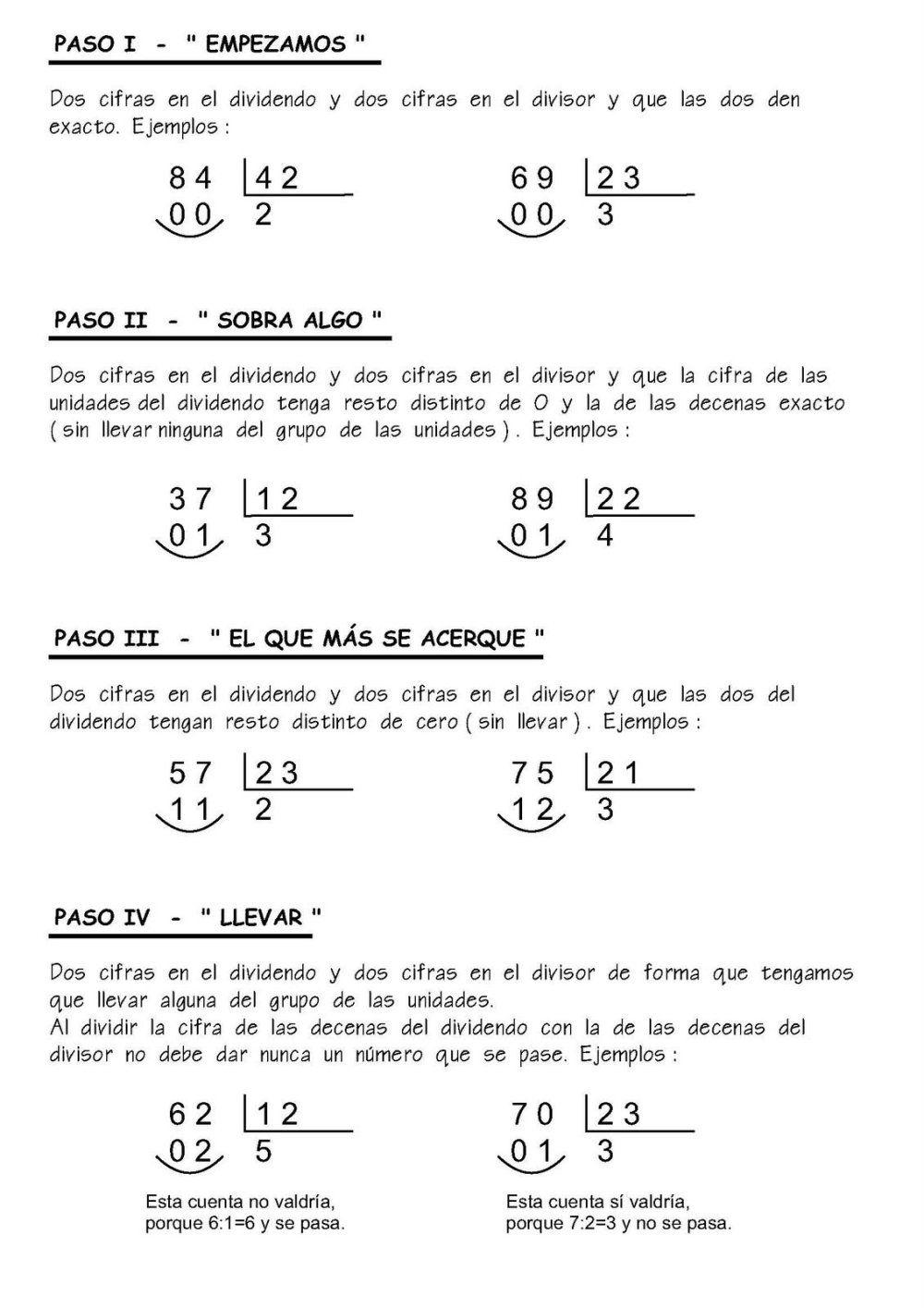 Fichas Para Practicar La División Divisiones Matematicas Matematicas Primaria Matematicas