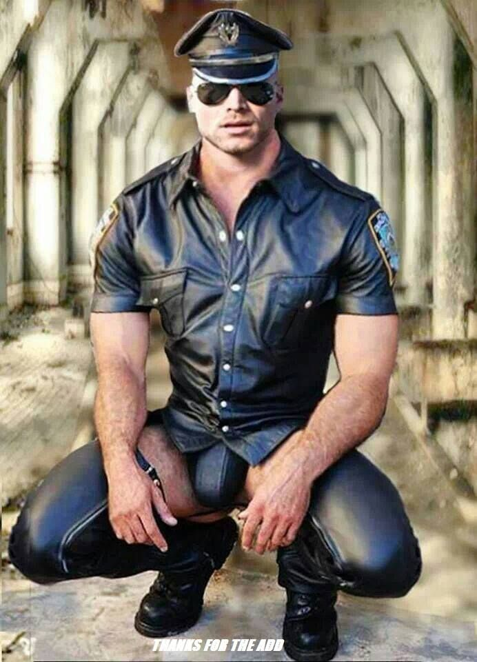 Gay leather cops