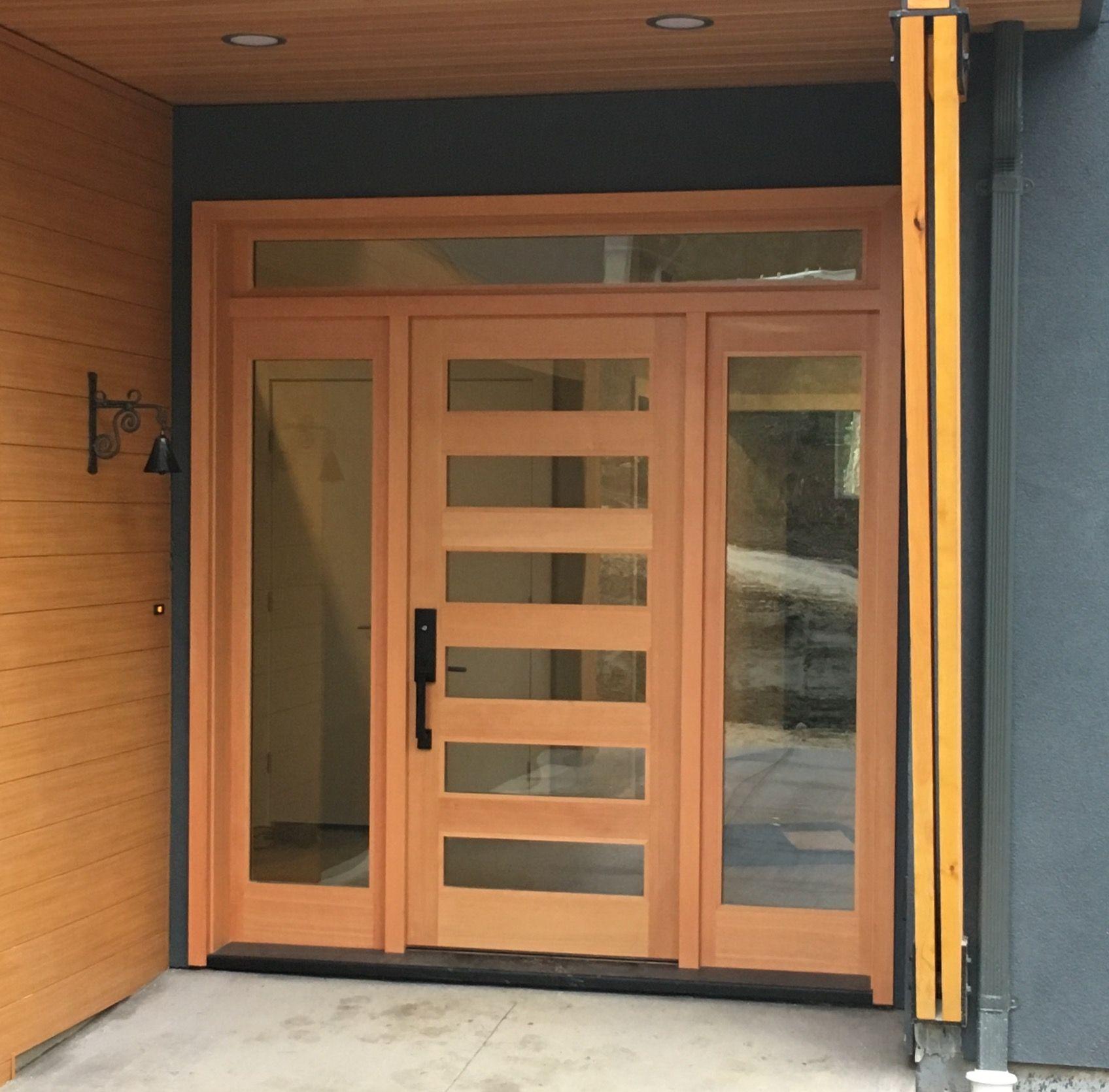 Contemporary entrance door and lites in VG Douglas Fir & Contemporary entrance door and lites in VG Douglas Fir | para la ...