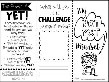 Growth Mindset Activities Posters Bulletin Board Flip
