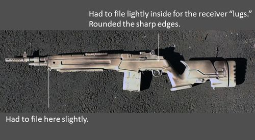 SA M1A w/Archangel M1A Precision Stock, what a great paint