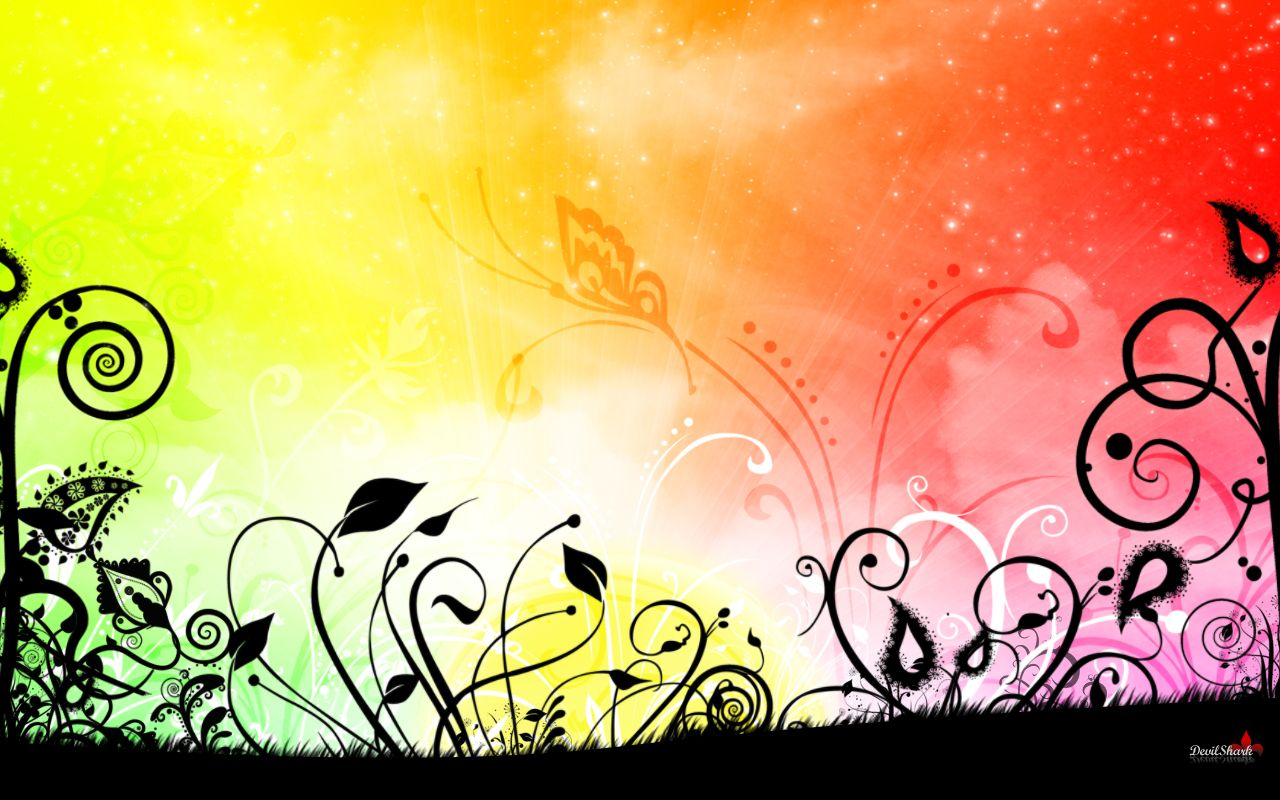 Abstract Rainbow Flowers Floral Wallpaper For Computer Abstract Flowers Flower Desktop Wallpaper Colorful Backgrounds