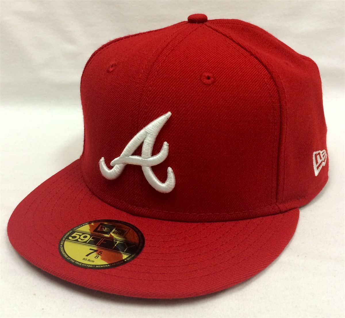 New Era 59fifty Mlb Basic Atlanta Braves Red Fitted Cap New Era 59fifty Atlanta Braves New Era