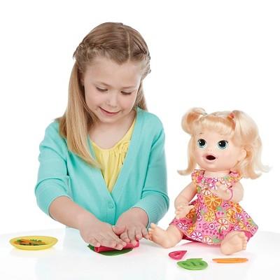 Baby Alive Super Snacks Snackin Sara Blonde Baby Alive Baby Alive Dolls Popular Kids Toys