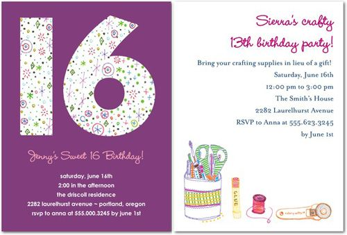 Download Now 16th Birthday Invitations Ideas For Her