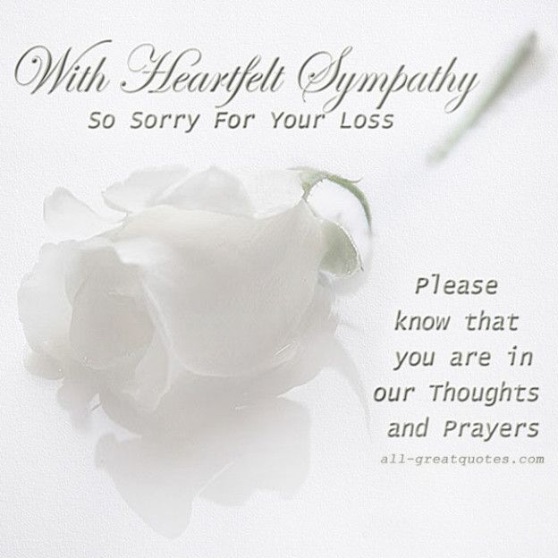 Free Sympathy Cards  With Heartfelt Sympathy  Sympathy Cards