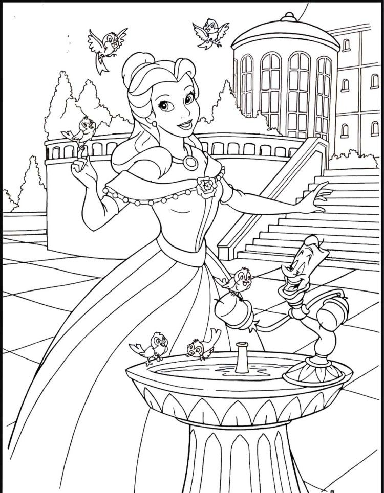 Belle At The Palace Coloring Pages Lots Of Printable Coloring