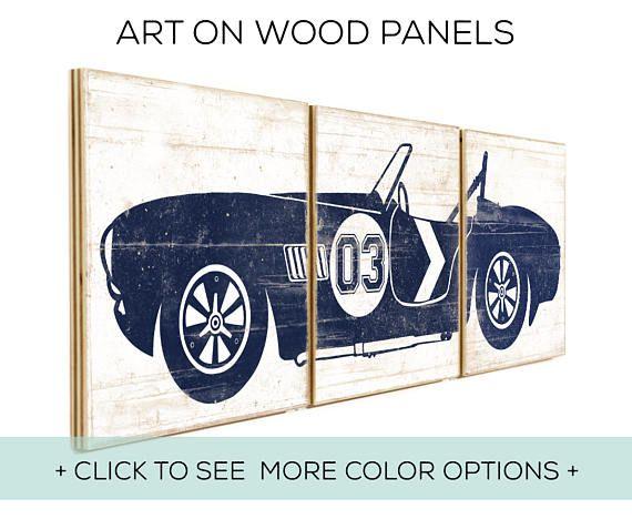 LAST ONE - Boys Room Decor - Classic Car Decor ...