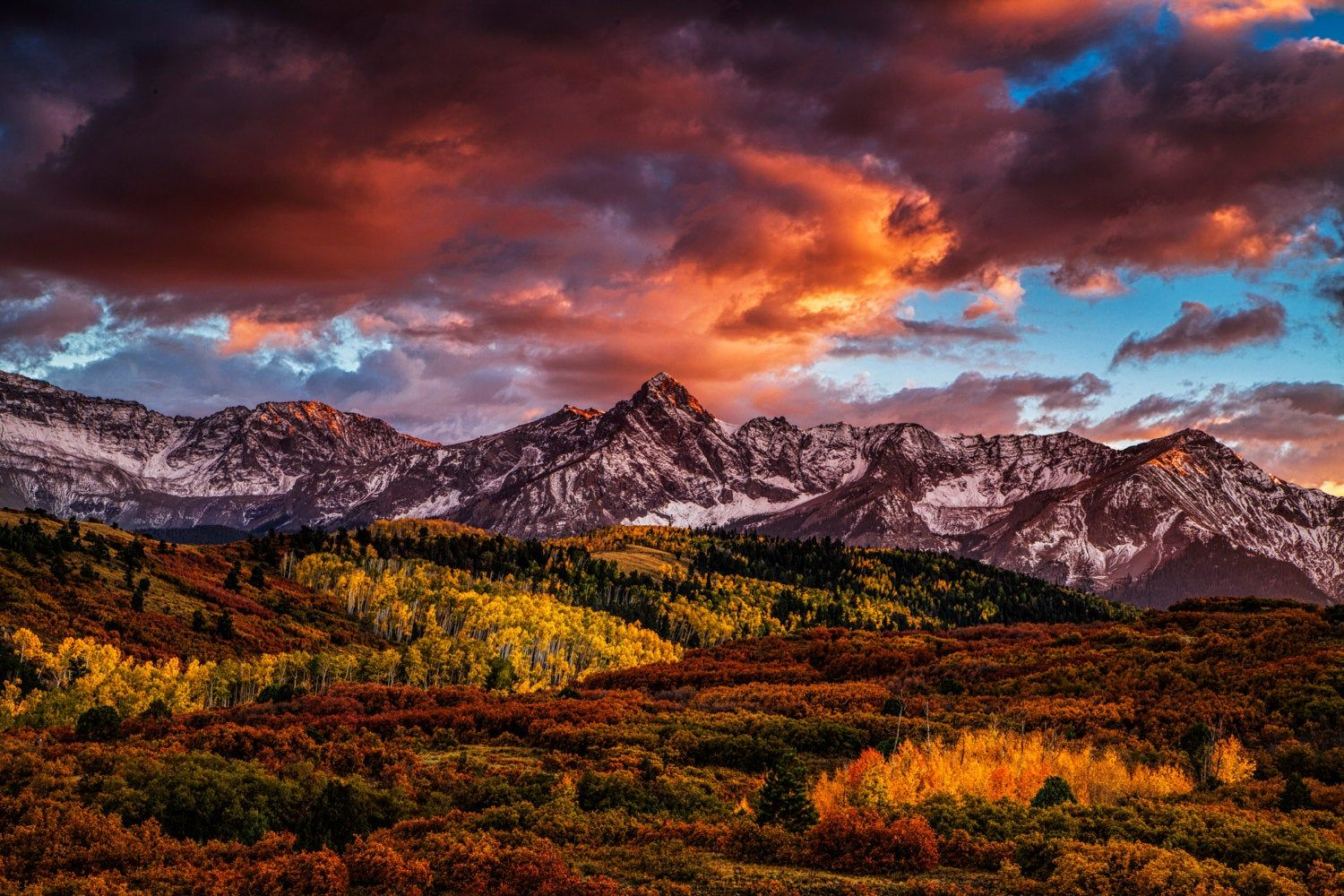 Colorado Wall Art Of An Autumn Landscape Scene In The San Juan Mountains Sunset Print At The Dallas Divide Autumn Landscape Fall Pictures Colorado Wall Art