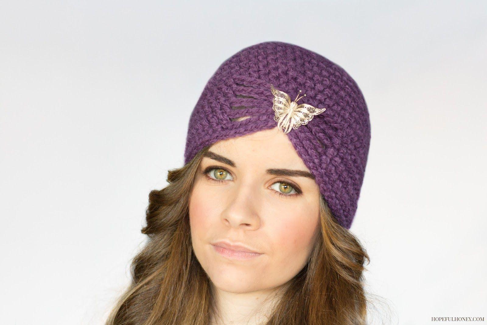 1920\'s Jewel Flapper Hat Crochet Pattern | Gorros, Gorros crochet y ...