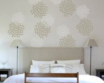 wall stencil stencil painting wall decor wall por modernwallclock cosas para ponerse pinterest wall patterns wall stenciling and painting walls. beautiful ideas. Home Design Ideas