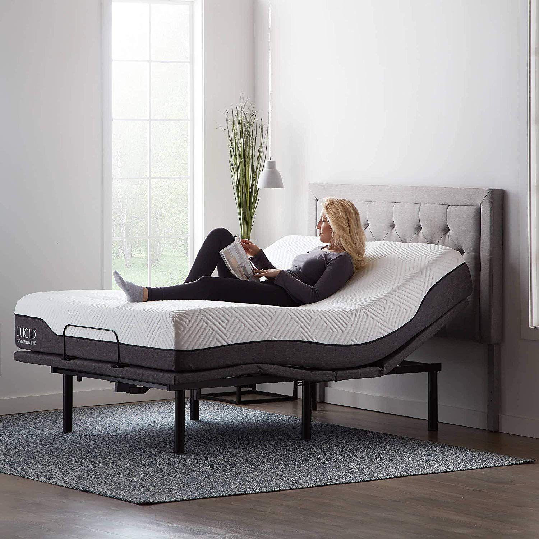 Lucid L600 Adjustable Bed Base Frame Under bed lighting