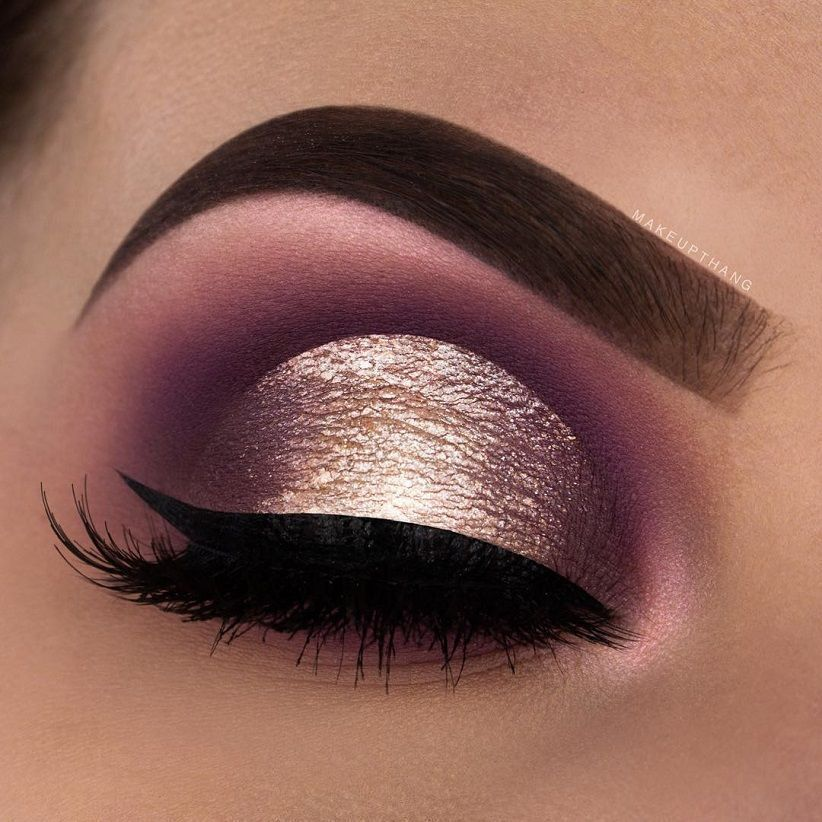 Rose Gold Eye Makeup Ideas Eyemakeup Gold Makeup Looks Rose