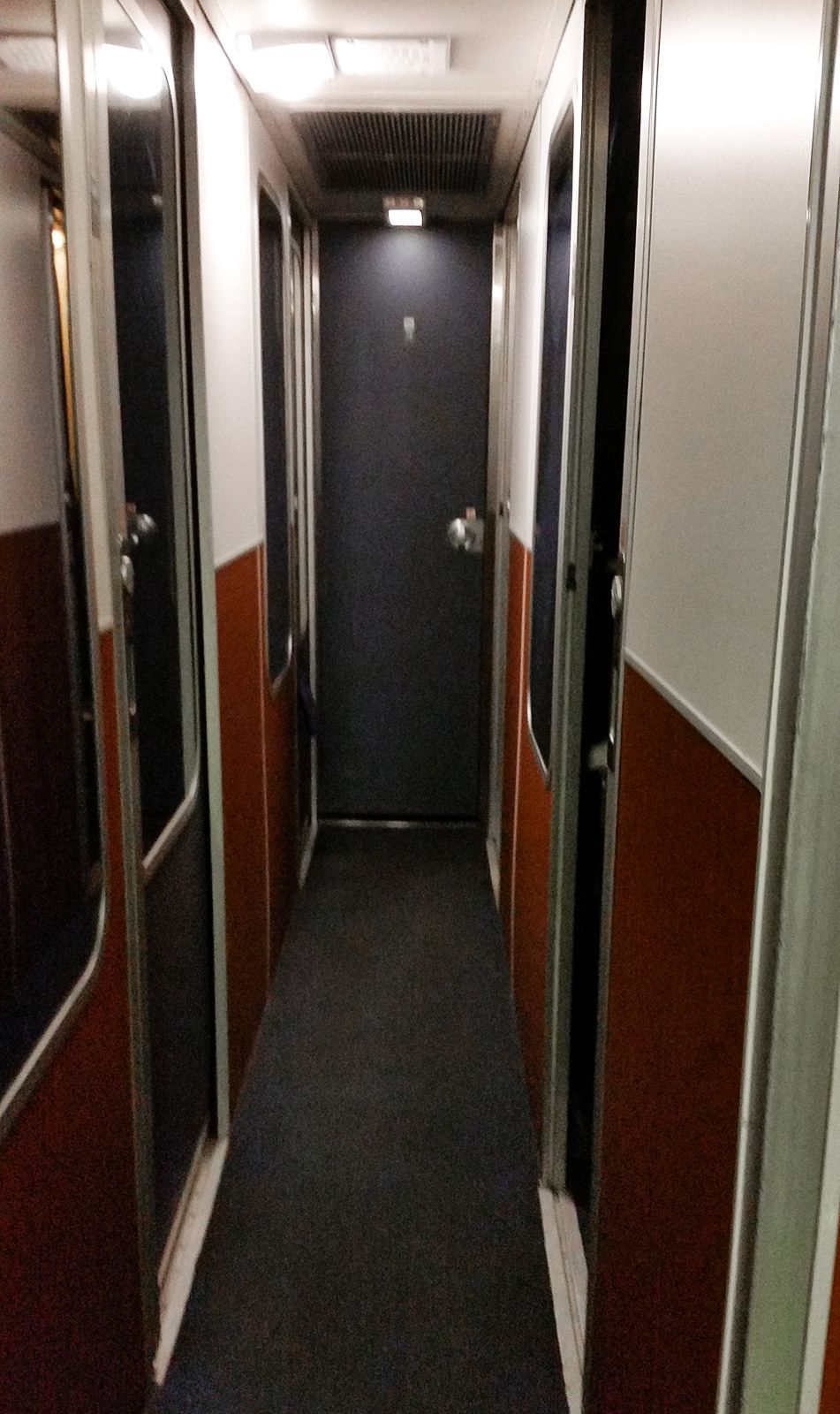 Lower Level Inside An Amtrak Empire Builder Sleeper Car