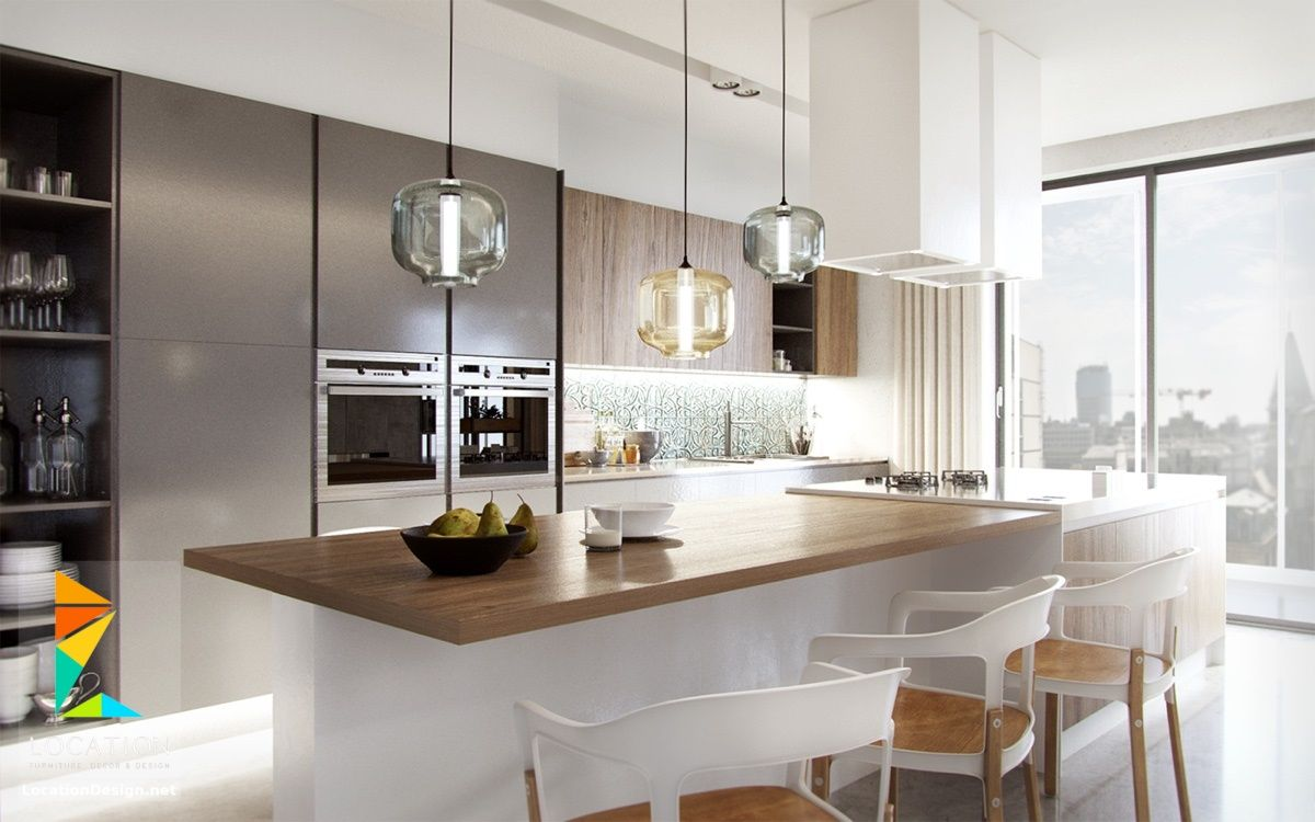 اشكال مطابخ مودرن من احدث كتالوج الوان المطابخ 2019 2020 Kitchen Pendants Rustic Kitchen Lighting Beautiful Kitchen Designs