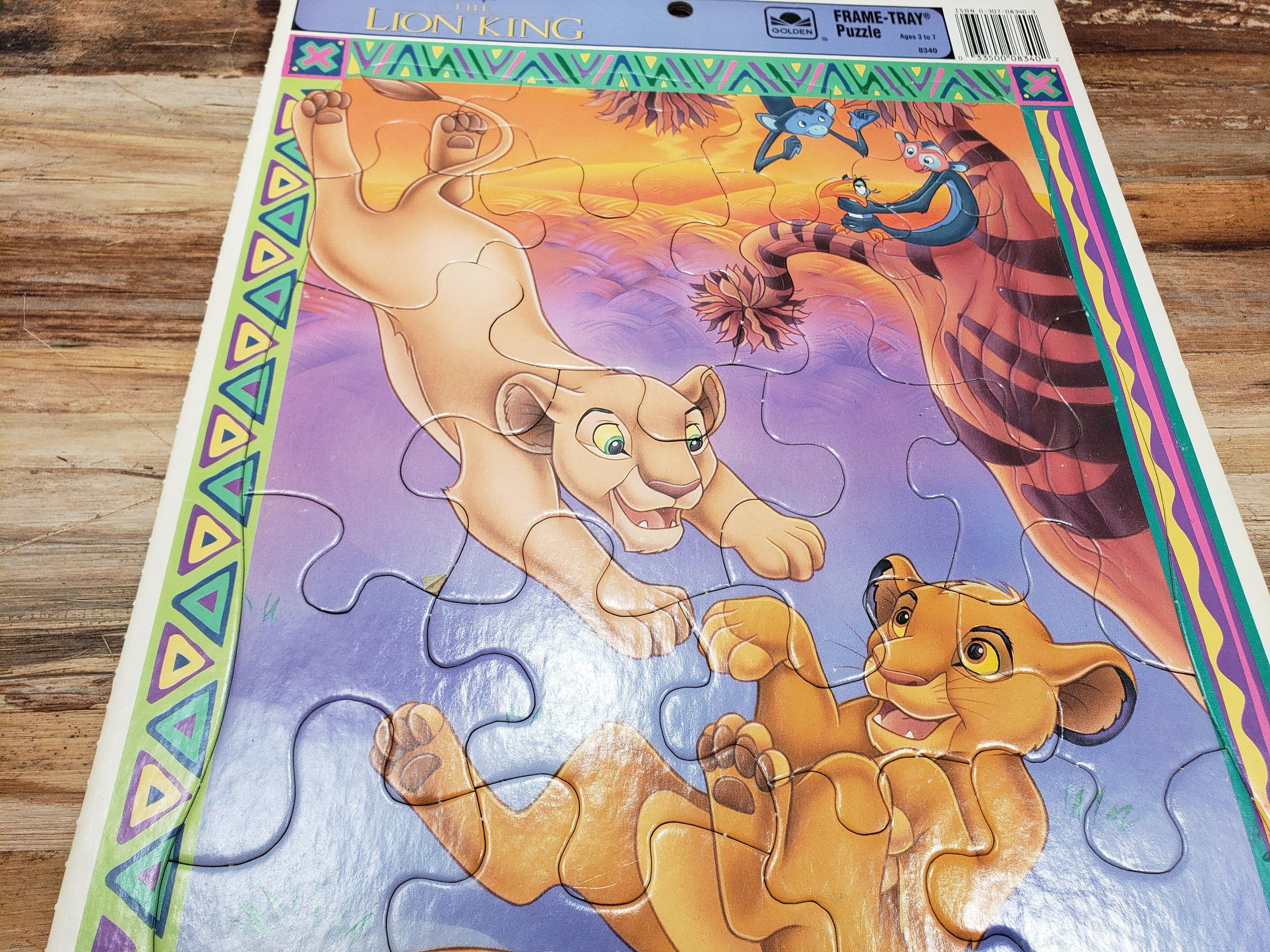 The Lion King Frame Tray Puzzle Vintage Puzzle In 2020 King Frame Frame Tray Lion King