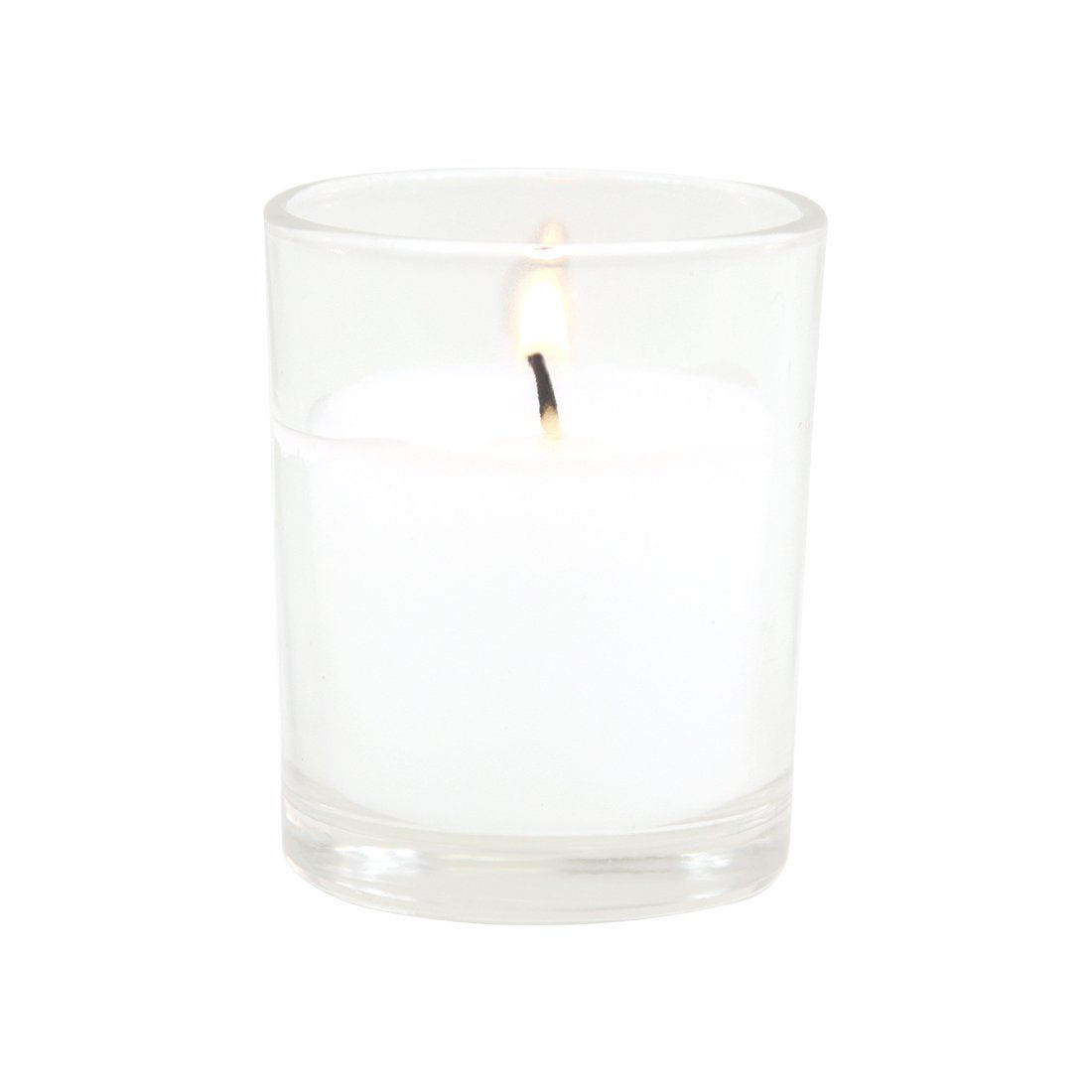 Unscented Pre Poured Votive Candles With Glass Holder Shower