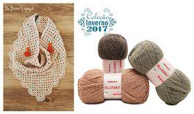 Que tal tecer lindos lenços de crochê para ficar em dia com a moda e se proteger do friozinho que vem por aí? A receita apresentada na post...