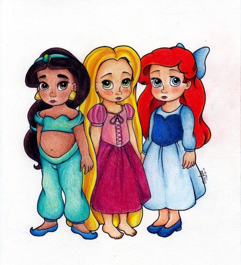 Jasmine raiponce ariel disney babies princesse princesse disney disney - Raiponce petite ...