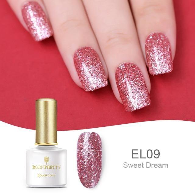 BORN PRETTY Nude Rose Gold Soak Off UV Gel Glitter Nail Art UV Gel Polish  Colorful ef7fd77794be