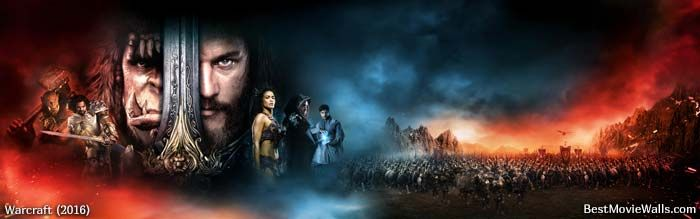 Warcraft Dualscreen Wallpaper With All Characters
