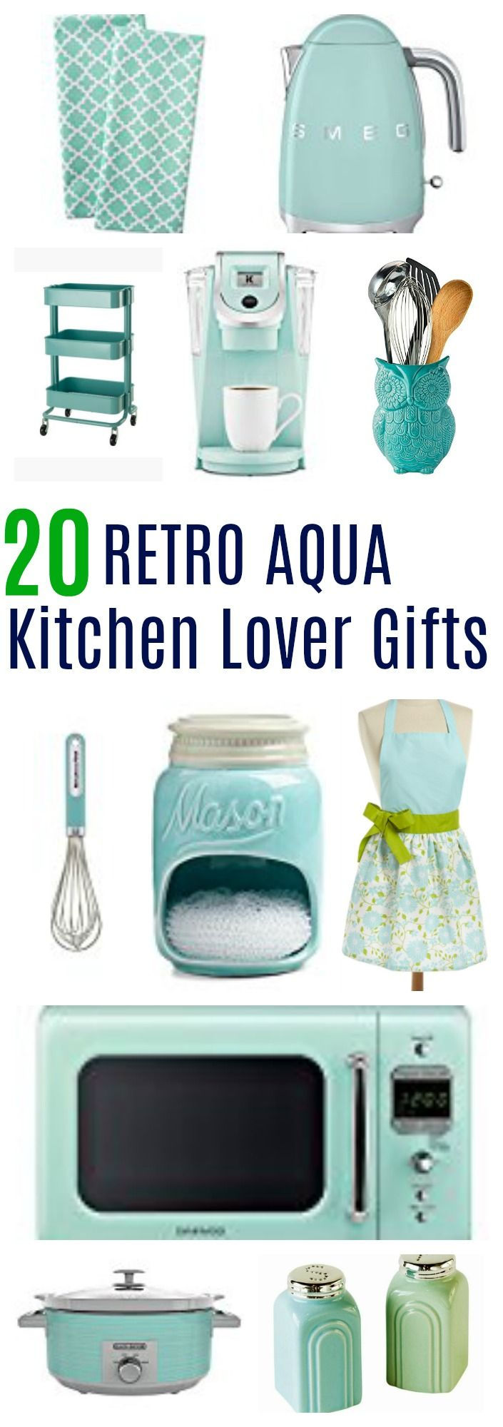 Retro Aqua Kitchen Decor Lover 20 Must Have Items Aqua Kitchen Retro Kitchen Decor Retro Home Decor