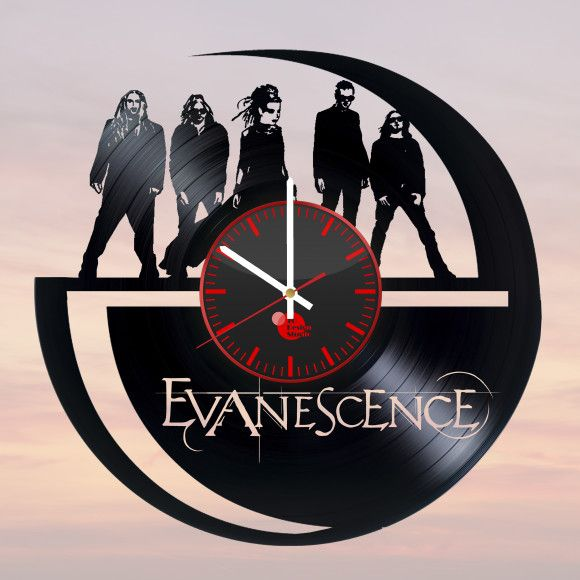 Evanescence Handmade Vinyl Record Wall Clock Hollow Bone