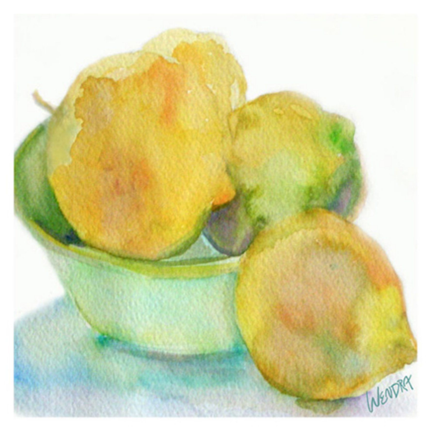 Lemons Canvas Wall Art by Wendra - WL023-C1818GG | Canvases and Products