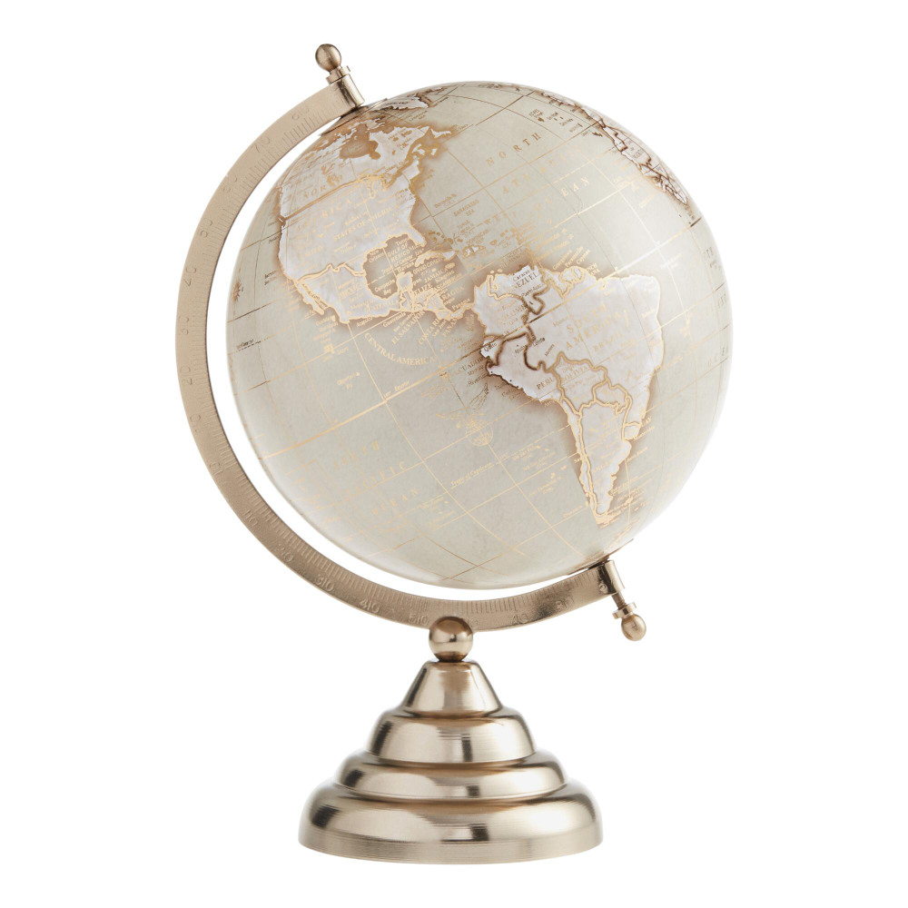 Taupe And Gold Globe On Stand World Market Gold Globe House Gifts Globe