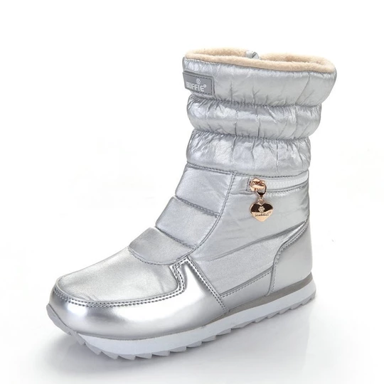 Winter Mens Snowboots Ankle Boots Leather Shoes Platform Buckle Slouch Warm New