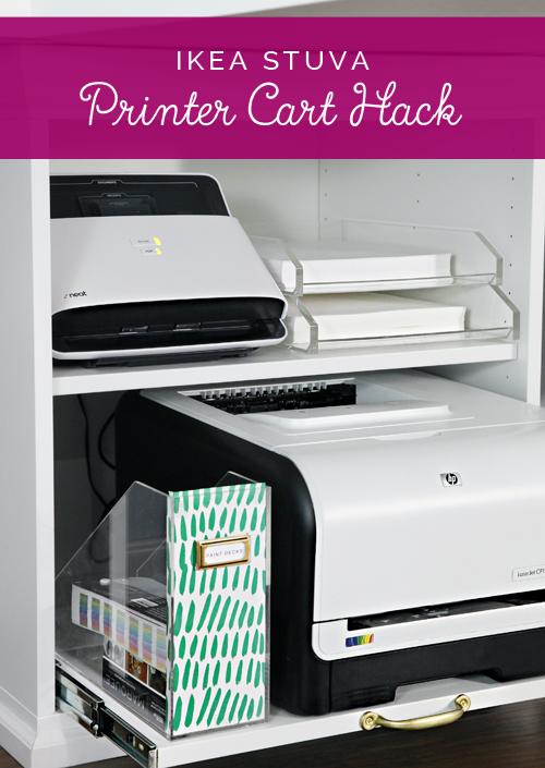 Ikea Stuva Printer Cart Hack Arbeitszimmerideen Hausburo Schreibtische Schreibtisch Organisation