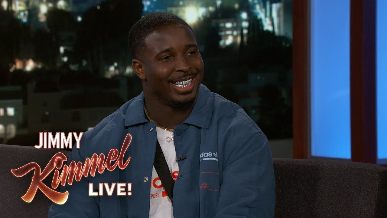 Patriots Champ Sony Michel On Scoring Super Bowl Touchdown Partying Wi Steve Carell Robin Thicke Tom Hanks