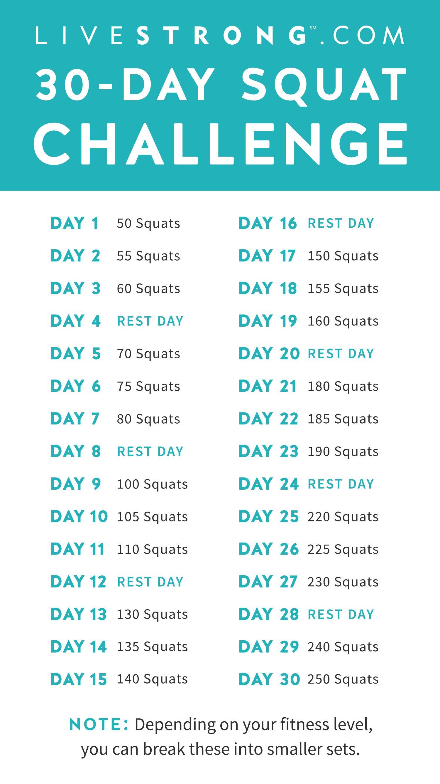 The 30-Day Squat Challenge | fitnedd | Výzvy