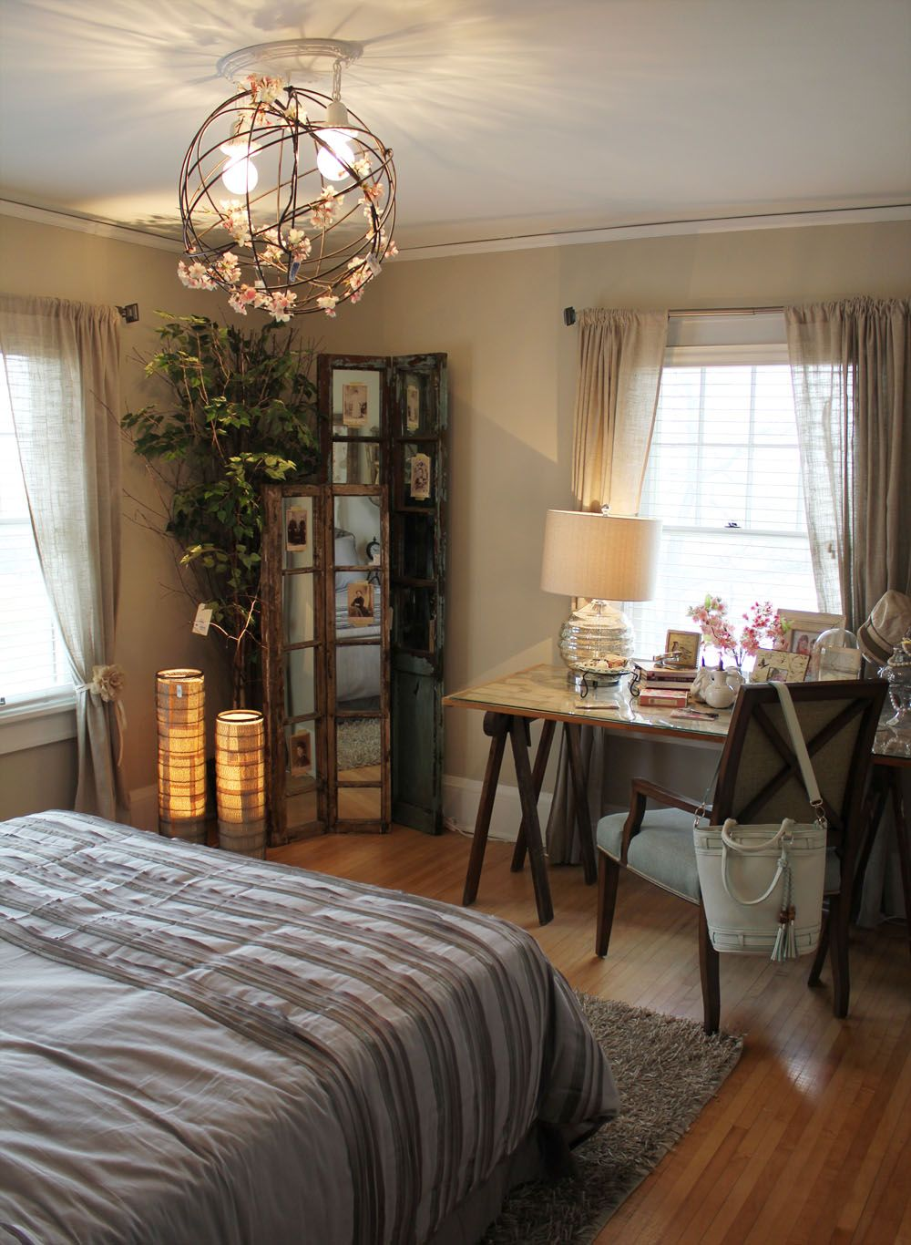 This Blog has some really cool, inexpensive ideas for decorating the home!
