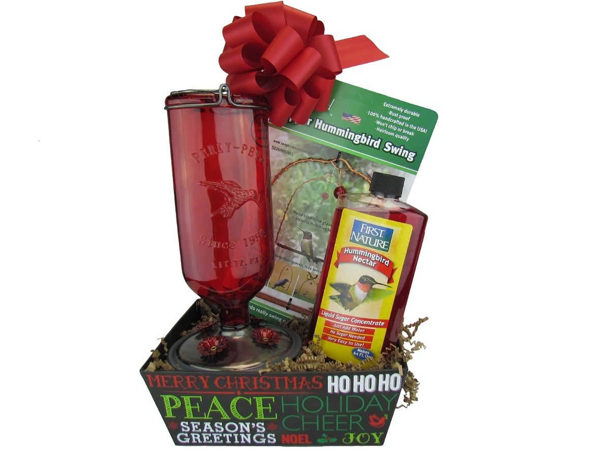 JCs Wildlife - JCS Gift Basket - Hummingbird Basket with Hummingbird Swing, $49.99 (http://www.jcswildlife.com/bird-feeders/jcs-gift-basket-hummingbird-basket-with-hummingbird-swing/)
