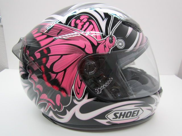 Love this pink Shoei helmet