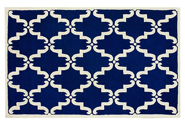 Dalia Trellis Rug Royal Blue On OneKingsLane Fearless Foundations