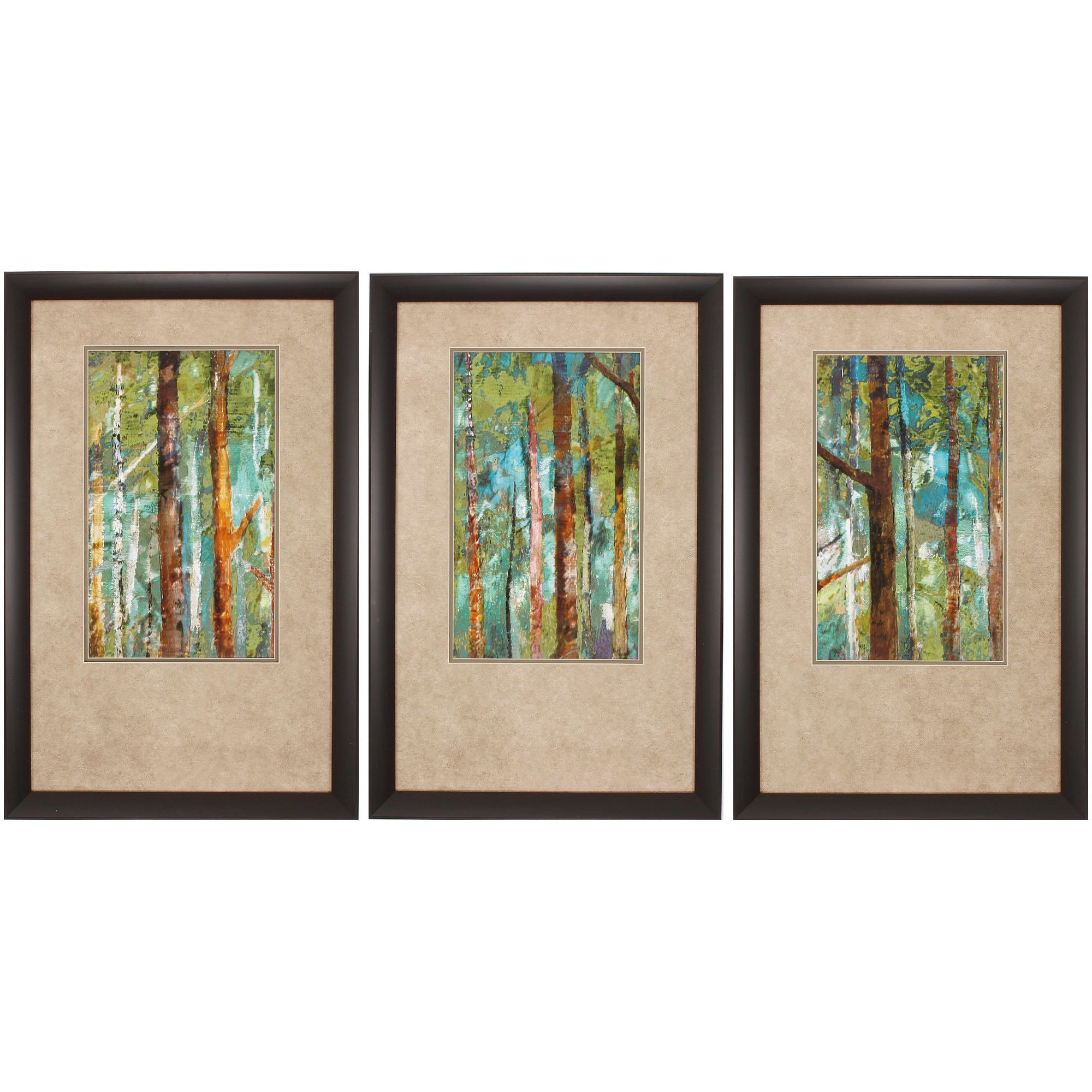 Propac Images Woodland I Ii Iii 3 Piece Framed Painting