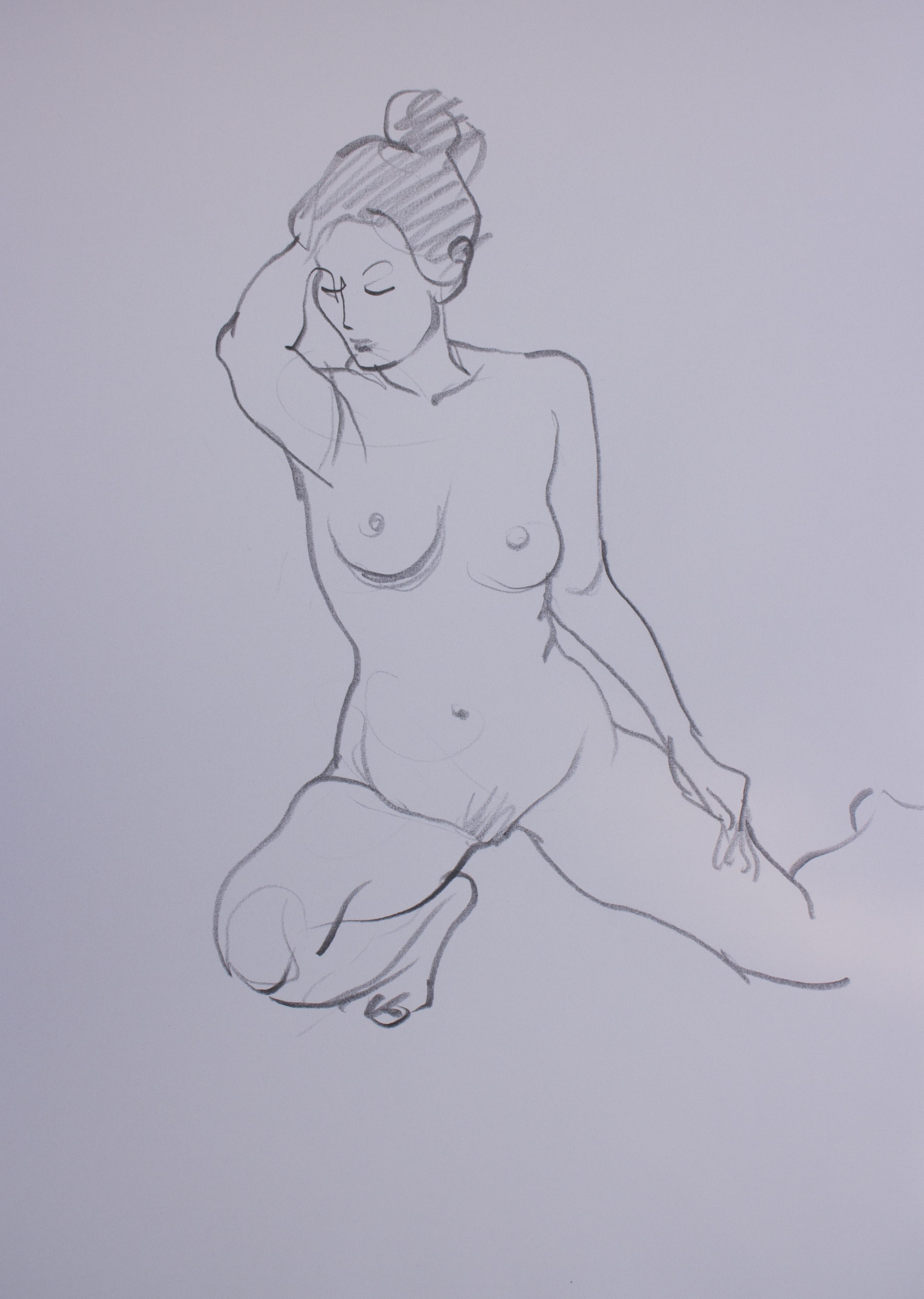 Lifedrawing drawing pencil drawing nude drawing woman nude croquis