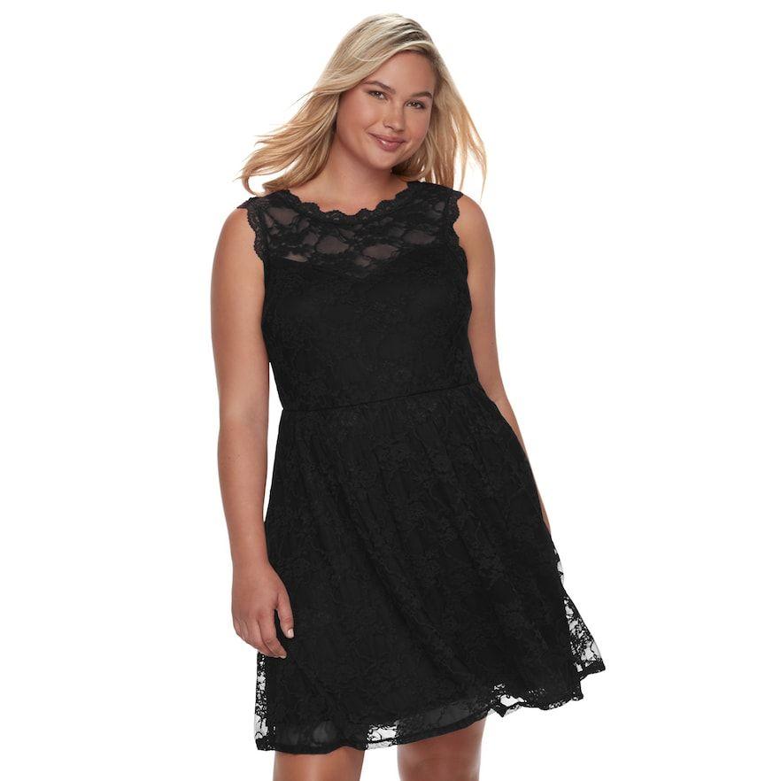 Wrapper Juniors Plus Size Lace Skater Dress Products
