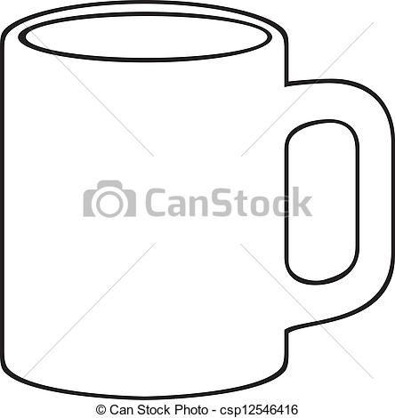 Vector Coffee Mug White Cup Stock Illustration Royalty Free Illustrations Stock Clip Art Icon Stock Clipart Icons Logo Line White Cups Mugs Clip Art