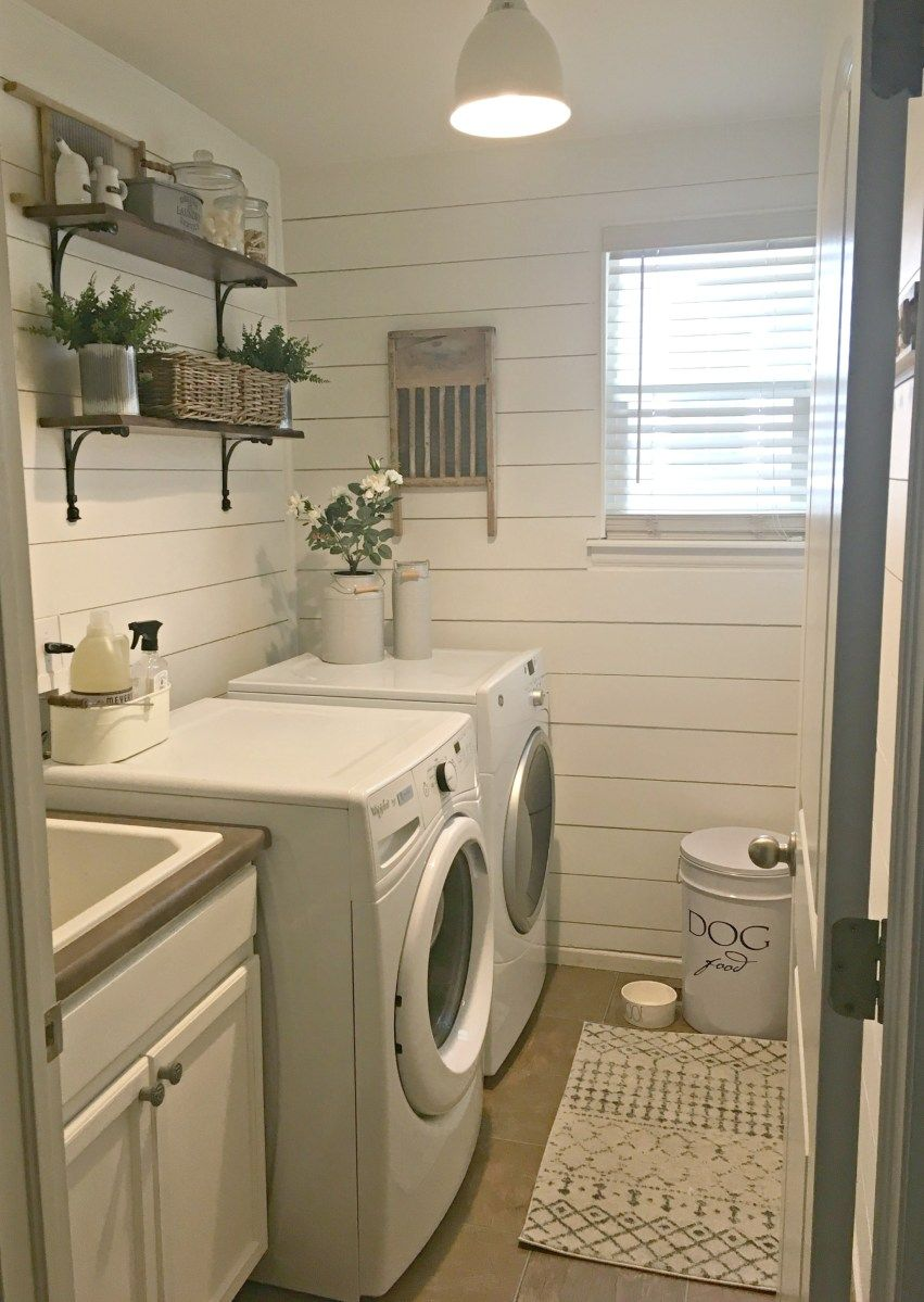Rustic Laundry Room Reveal  Rustic laundry rooms, Laundry room