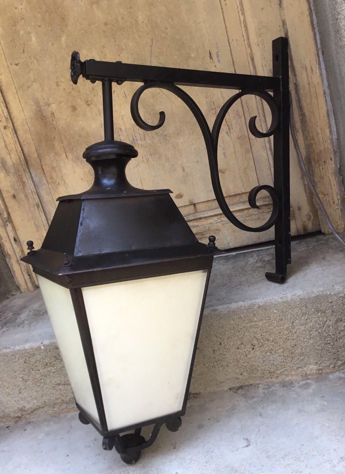 Ancien Lampadaire Urbain Lanterne En Fer Forge Metal Design Urbain Eur 50 00 Ancien Lampadaire Urbain Lantern Lampadaire Lampadaire Exterieur Lanterne