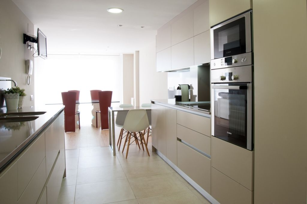 Cocina colección Lacca Beige. Espléndida combinación en color beige ...